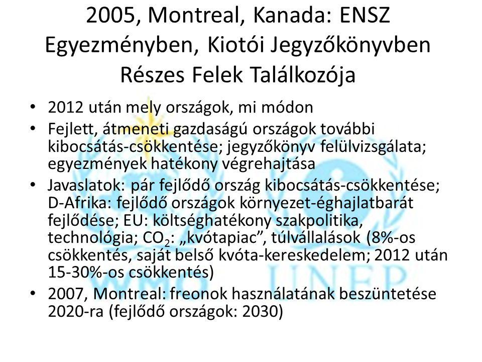 2005, Montreal, Kanada: ENSZ Egyezményben, Kiotói Jegyzőkönyvben Részes Felek Találkozója