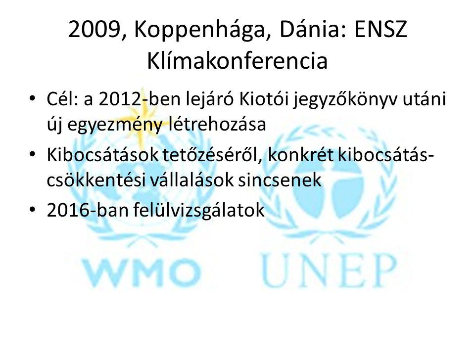 2009, Koppenhága, Dánia: ENSZ Klímakonferencia