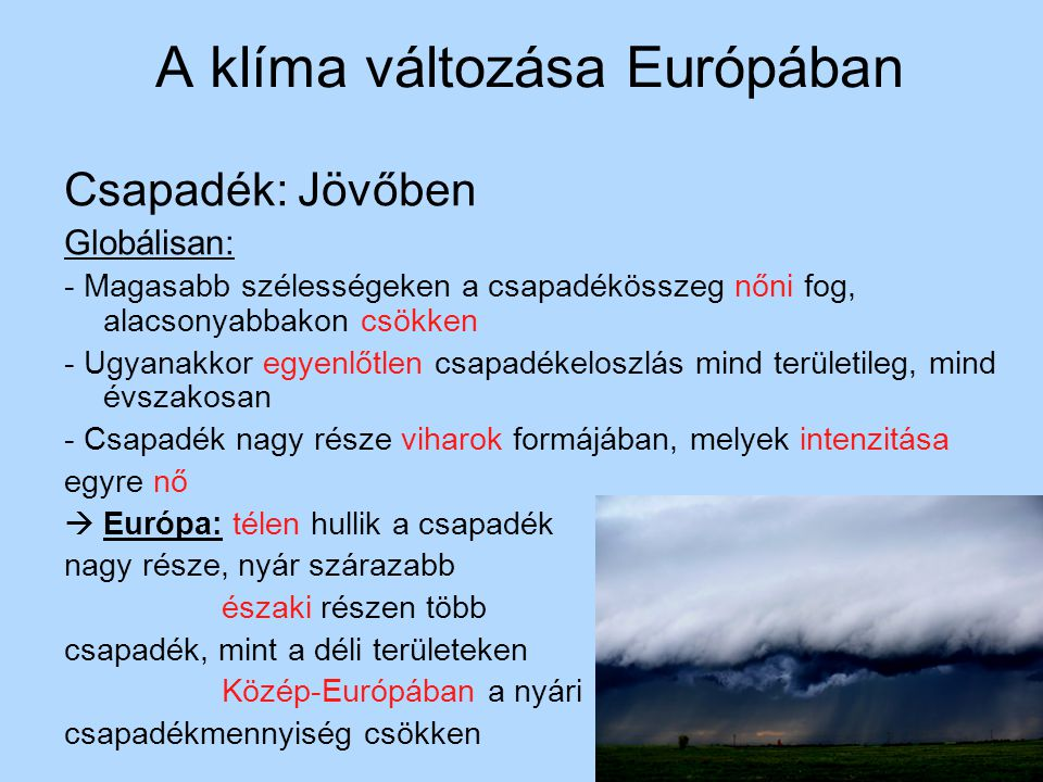 A klíma változása Európában