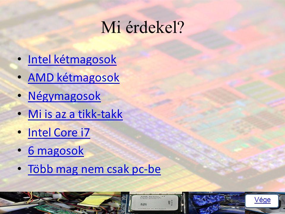 Mi érdekel Intel kétmagosok AMD kétmagosok Négymagosok