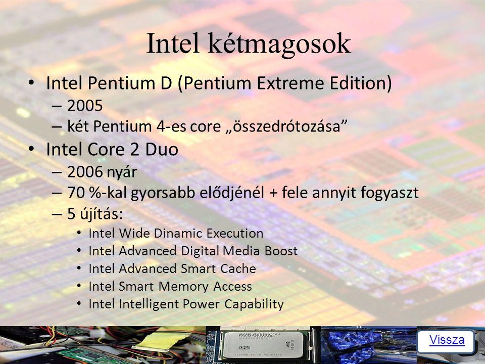 Intel kétmagosok Intel Pentium D (Pentium Extreme Edition)