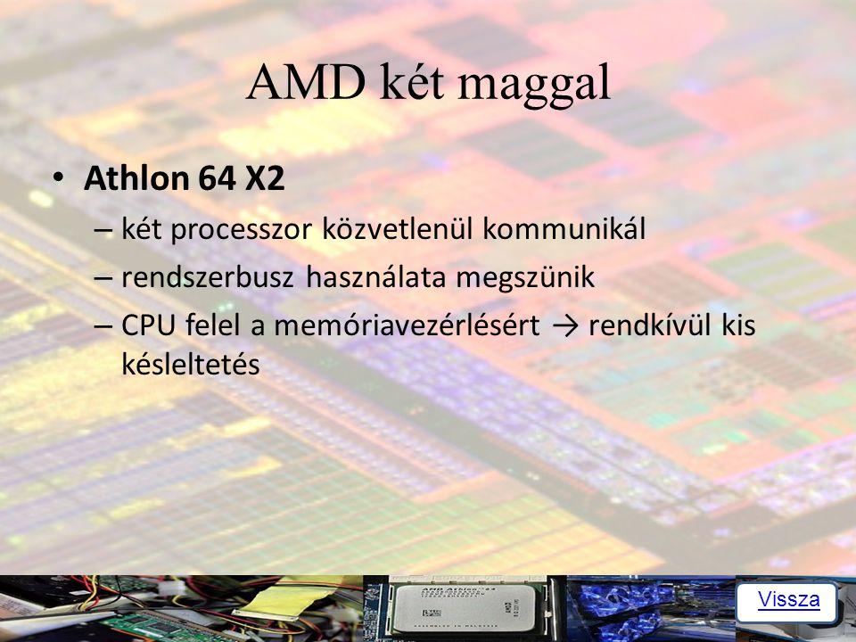 AMD két maggal Athlon 64 X2 két processzor közvetlenül kommunikál