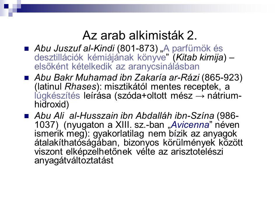 Az arab alkimisták 2.