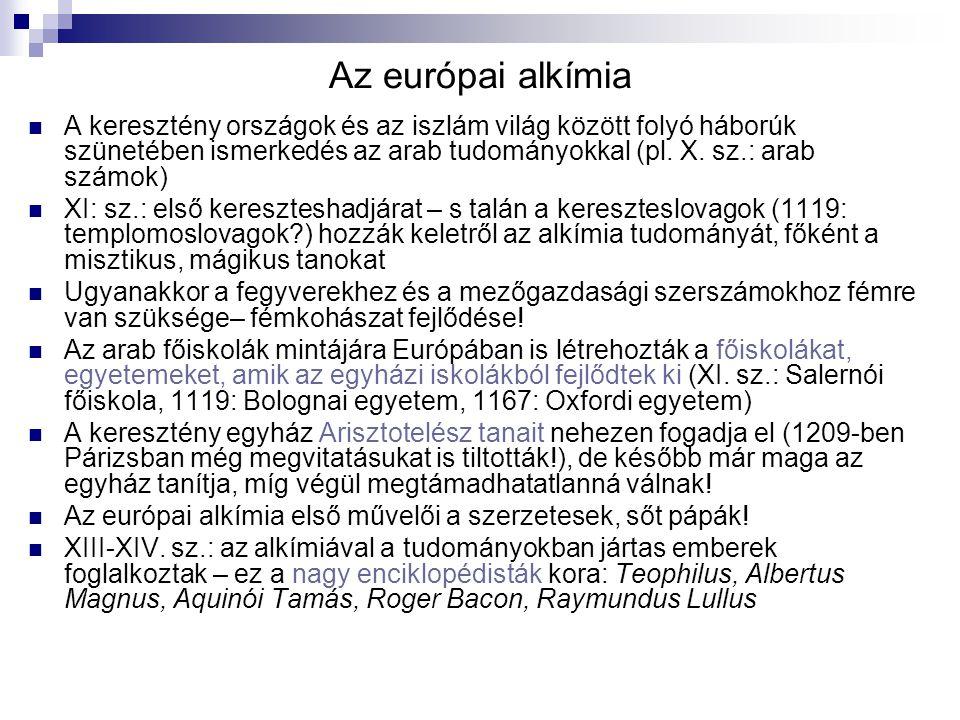 Az európai alkímia