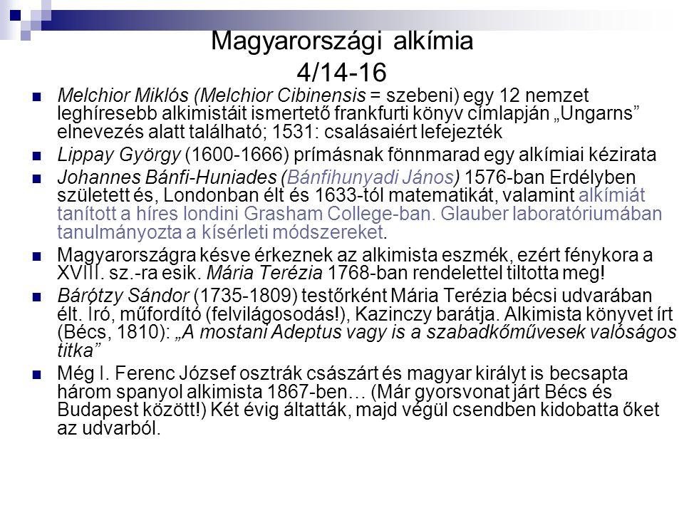 Magyarországi alkímia 4/14-16