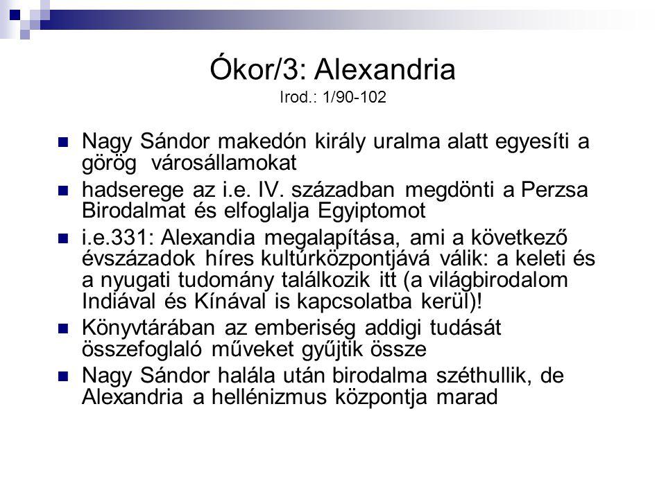 Ókor/3: Alexandria Irod.: 1/90-102