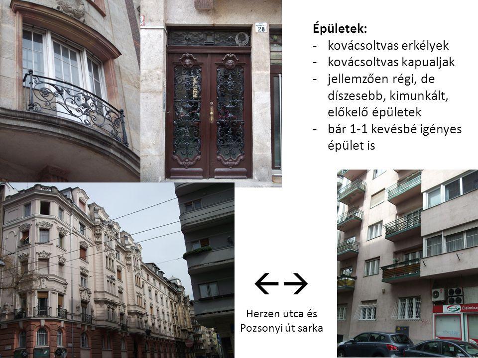 Herzen utca és Pozsonyi út sarka