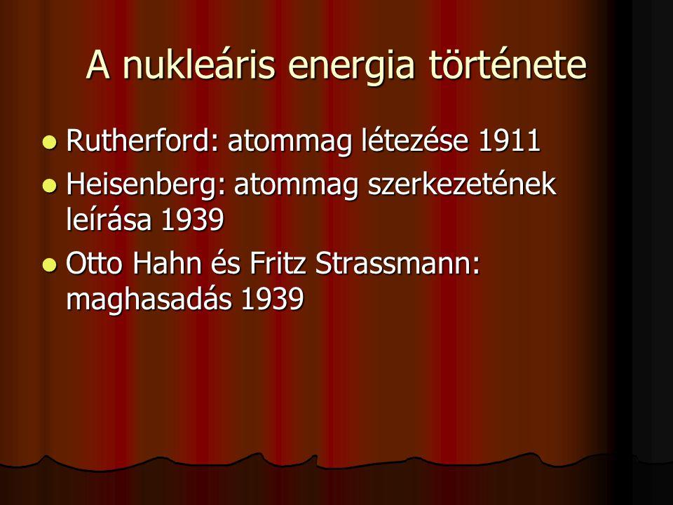 A nukleáris energia története
