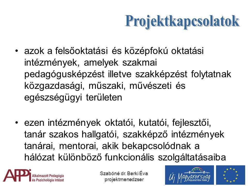 Szabóné dr. Berki Éva projektmenedzser