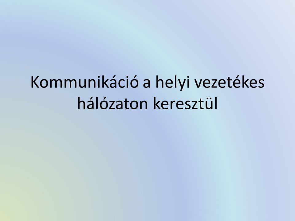Kommunikáció a helyi vezetékes hálózaton keresztül