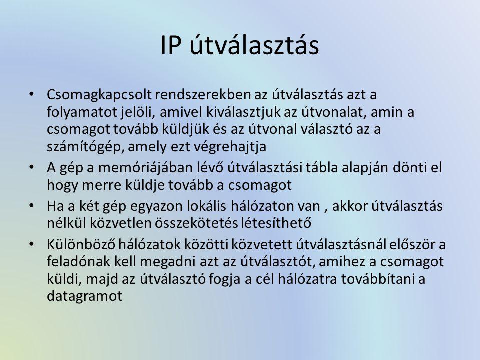 IP útválasztás