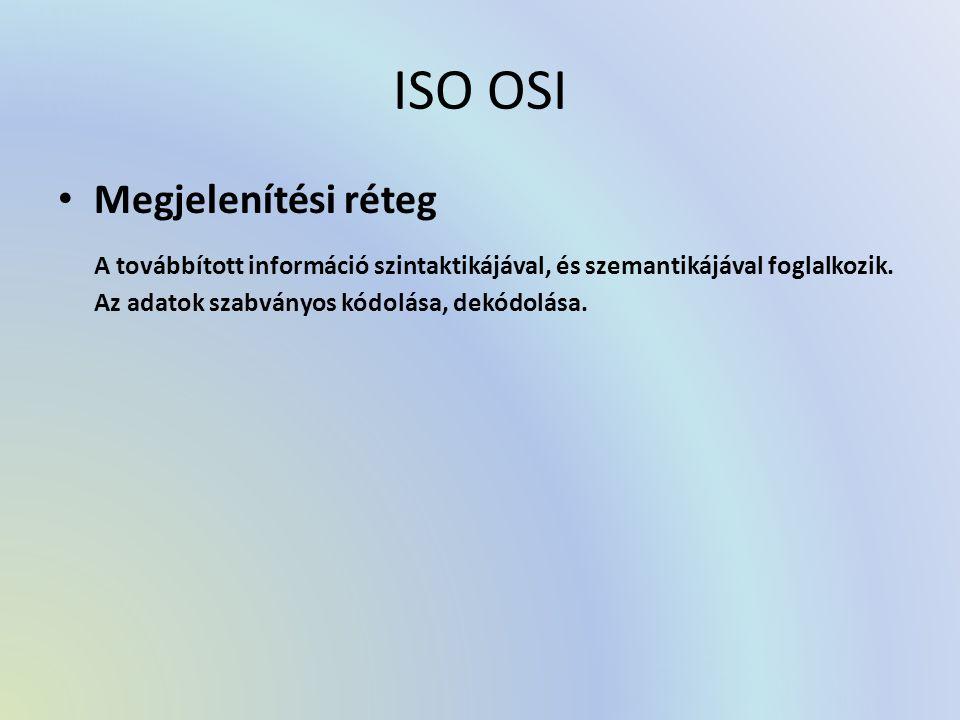 ISO OSI Megjelenítési réteg