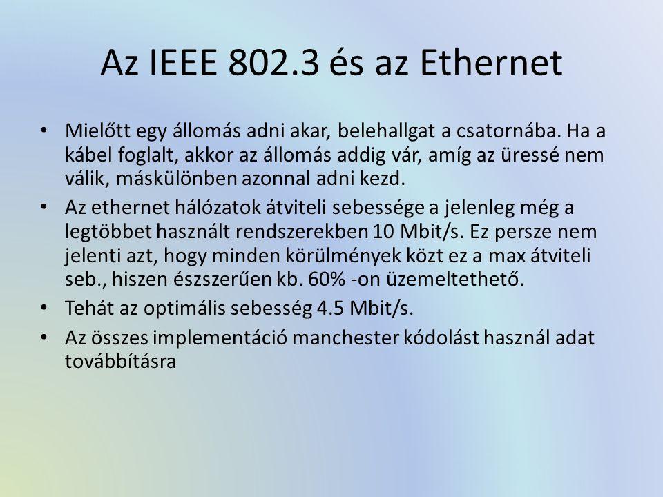 Az IEEE 802.3 és az Ethernet