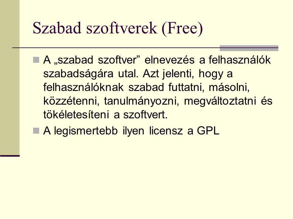 Szabad szoftverek (Free)