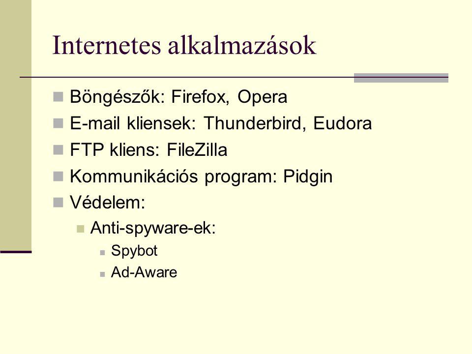 Internetes alkalmazások