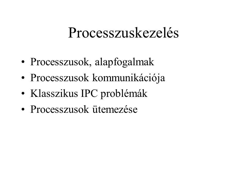 Processzuskezelés Processzusok, alapfogalmak