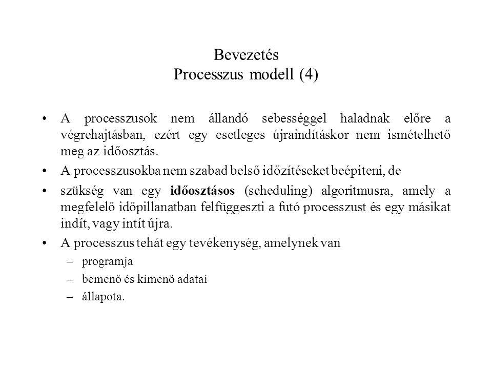 Bevezetés Processzus modell (4)
