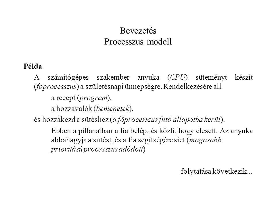 Bevezetés Processzus modell