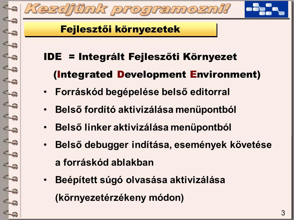 Fejlesztői környezetek