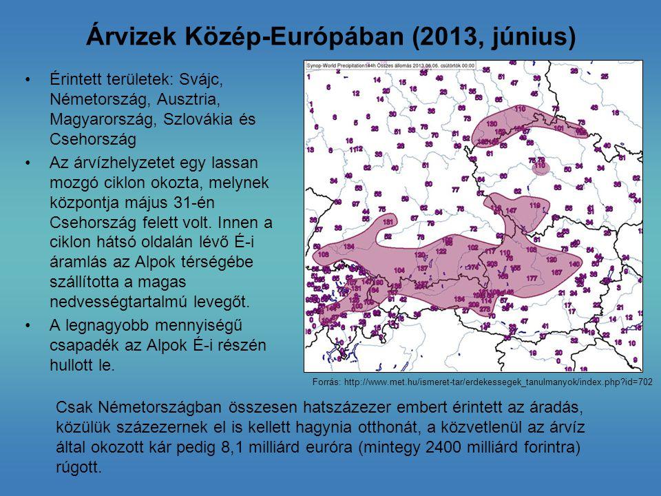 Árvizek Közép-Európában (2013, június)