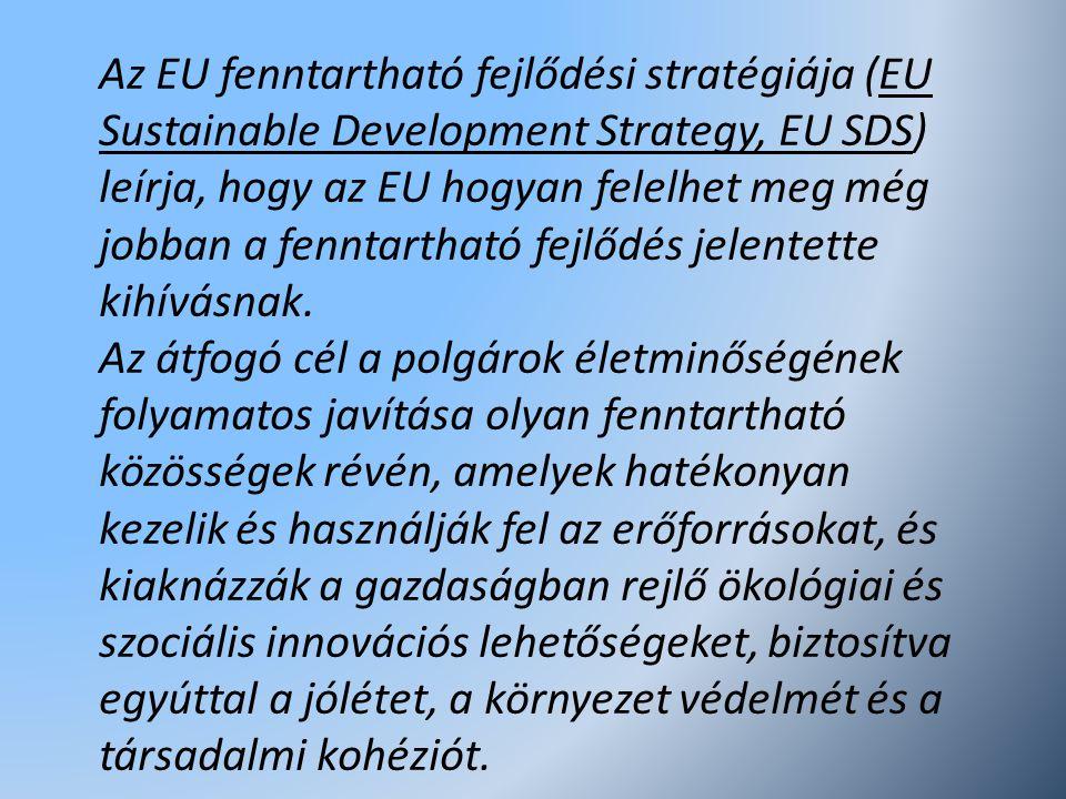 Az EU fenntartható fejlődési stratégiája (EU Sustainable Development Strategy, EU SDS) leírja, hogy az EU hogyan felelhet meg még jobban a fenntartható fejlődés jelentette kihívásnak.