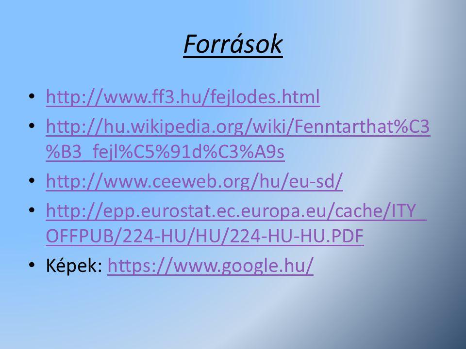 Források http://www.ff3.hu/fejlodes.html