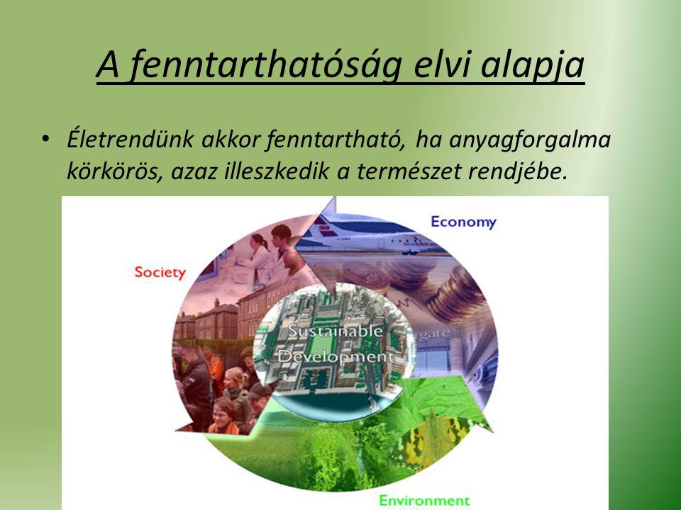 A fenntarthatóság elvi alapja