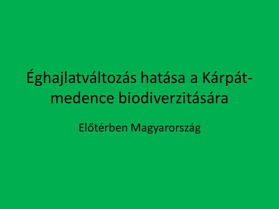 Éghajlatváltozás hatása a Kárpát-medence biodiverzitására