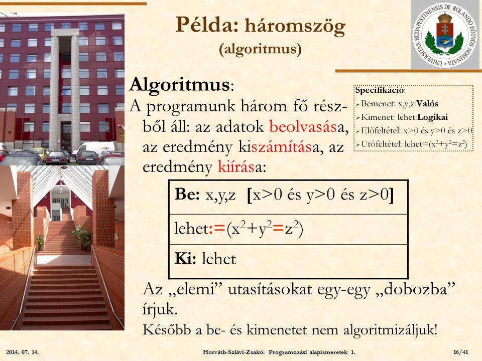 Példa: háromszög (algoritmus)