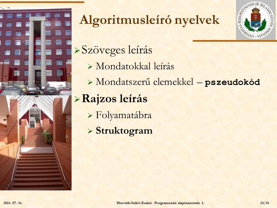 Algoritmusleíró nyelvek