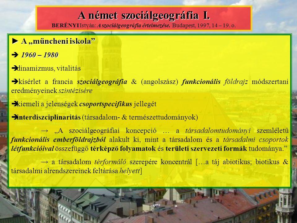 A német szociálgeográfia I