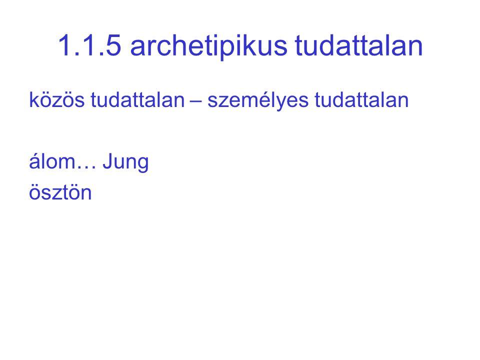 1.1.5 archetipikus tudattalan