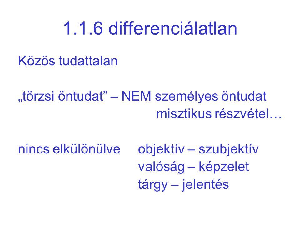 1.1.6 differenciálatlan Közös tudattalan