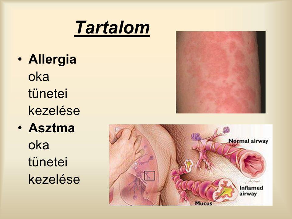 Tartalom Allergia oka tünetei kezelése Asztma