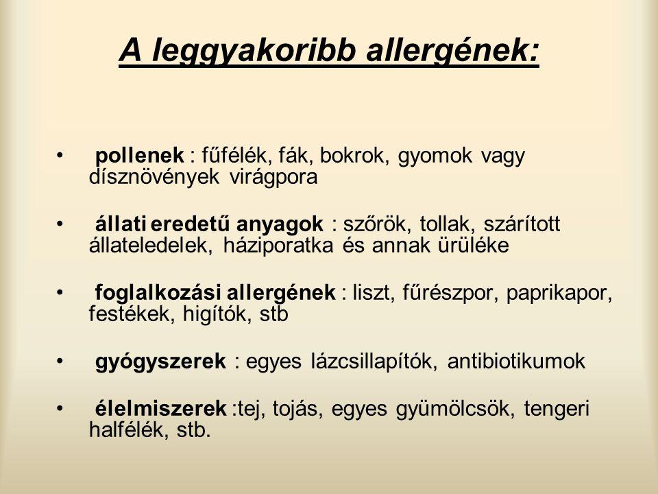 A leggyakoribb allergének:
