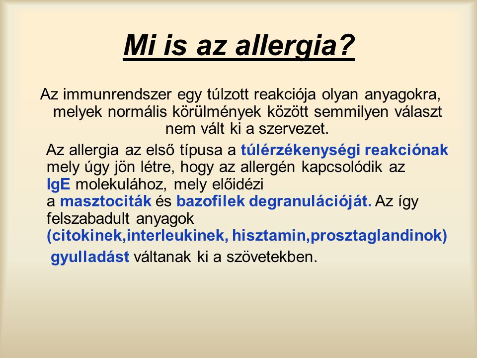 Mi is az allergia