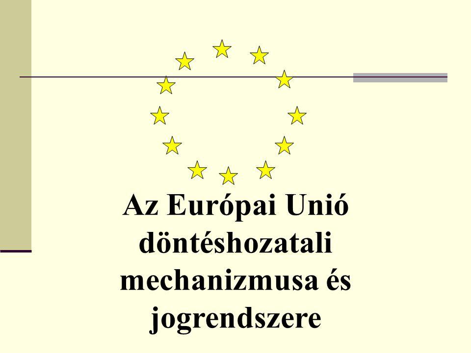 Az Európai Unió döntéshozatali mechanizmusa és jogrendszere