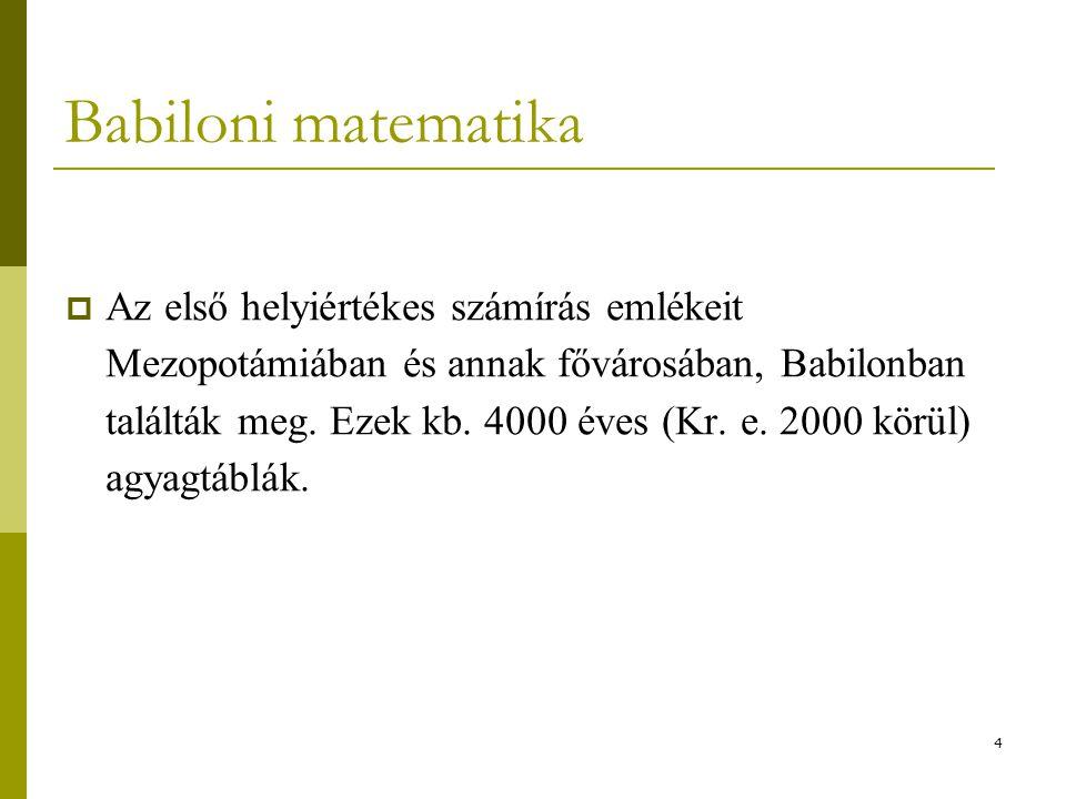 Babiloni matematika