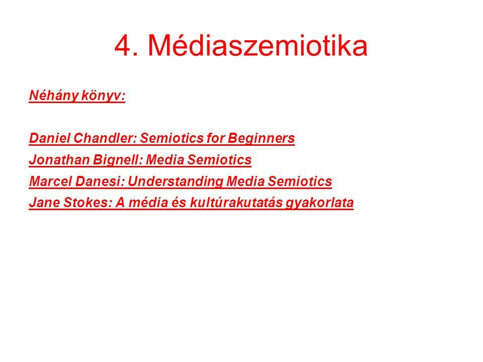 4. Médiaszemiotika Néhány könyv:
