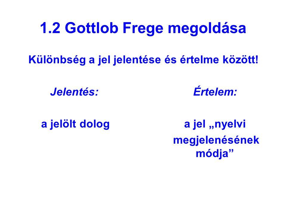1.2 Gottlob Frege megoldása