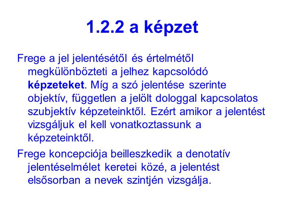 1.2.2 a képzet