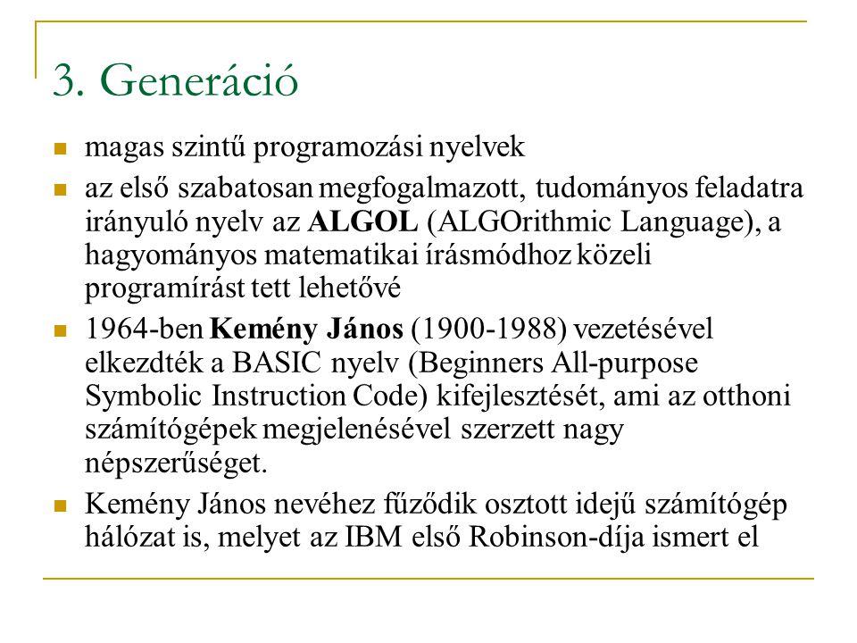 3. Generáció magas szintű programozási nyelvek