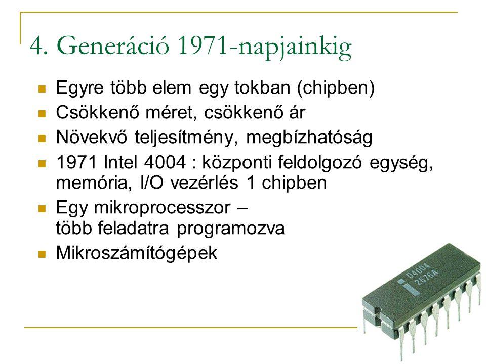4. Generáció 1971-napjainkig