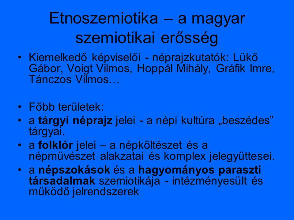 Etnoszemiotika – a magyar szemiotikai erősség