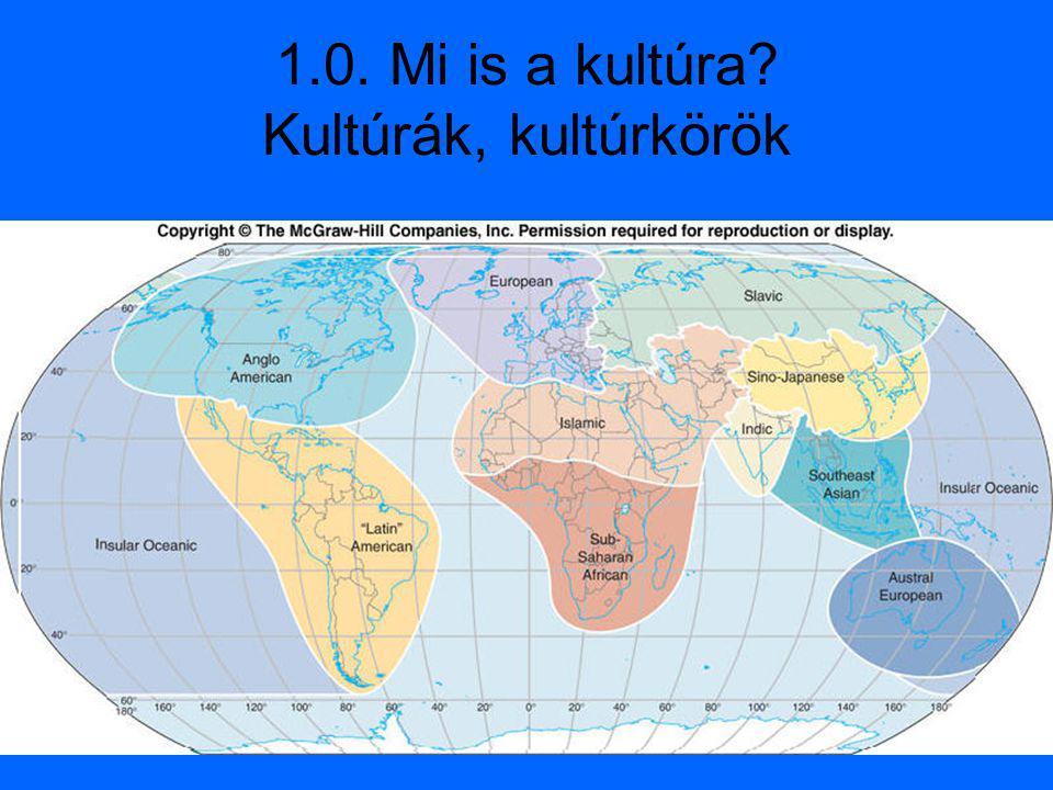 1.0. Mi is a kultúra Kultúrák, kultúrkörök