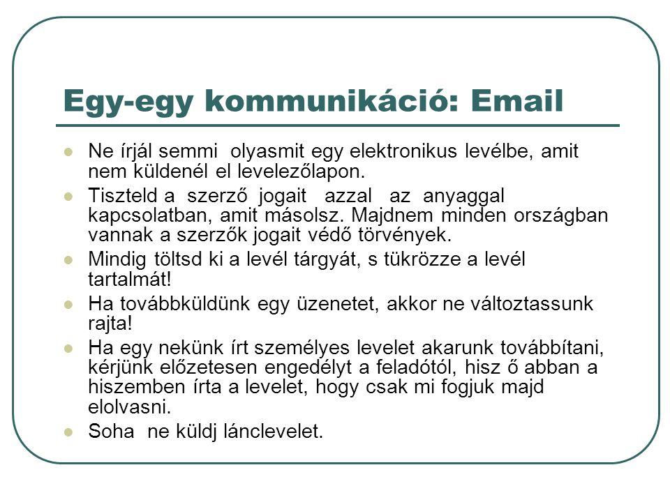 Egy-egy kommunikáció: Email
