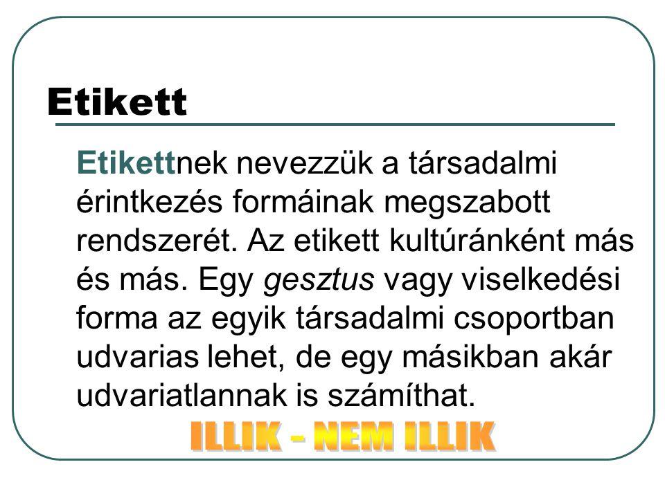 Etikett ILLIK - NEM ILLIK
