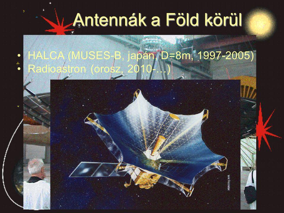Antennák a Föld körül HALCA (MUSES-B, japán, D=8m, 1997-2005)
