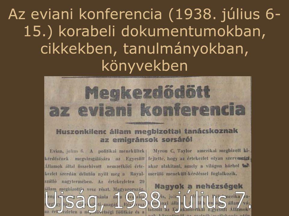 Az eviani konferencia (1938. július 6-15