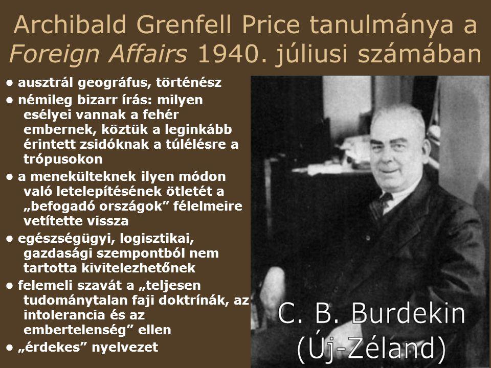 Archibald Grenfell Price tanulmánya a Foreign Affairs 1940